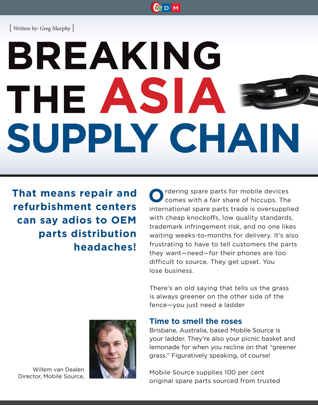 Breaking the Asia Supply Chain